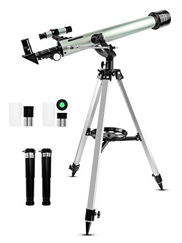 Refractor Telescope, Egoera Professional 525X Space Astronomic Telescope Kids Monocular Telescopes with Tripod and Finderscope Educational Toys for Astronomy Beginners Moon and Planetary Observations