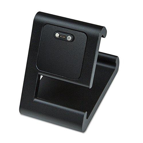 TimeDock - Charging Dock for Pebble 2, Pebble Time, Pebble Time Steel, Pebble Time Round (Black)