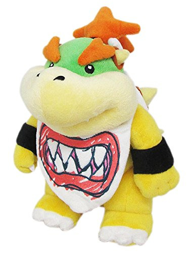 Little Buddy Super Mario All Star Collection 1424 Bowser Jr. Stuffed Plush, 8',Multi-Colored
