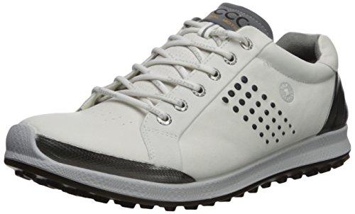 ECCO Men's Biom Hybrid 2 Hydromax Golf Shoe, White/Black, 47 M EU (13-13.5 US)