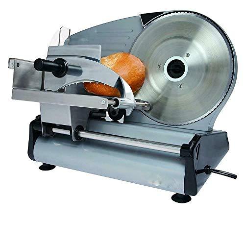 Electric Commercial Meat Slicer, Machine Food Cutting, Deli Slice Veggie Cutter Kitchen 8.7' Blade 180W