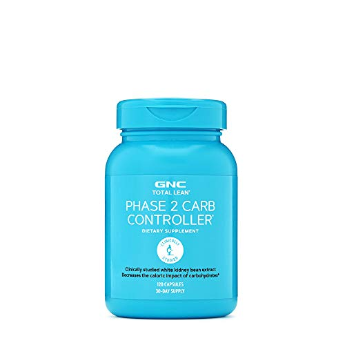 GNC Total Lean Phase 2 Carb Controller, 120 Capsules, Decreases Calorie Impact from Carbohydrates