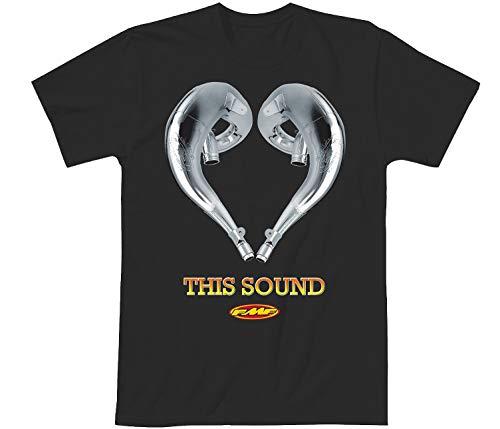 FMF Racing Men's Love This Sound 2 Graphic T-Shirt-XL Black
