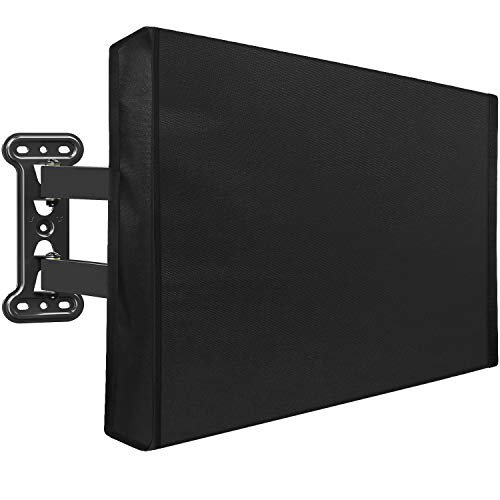 Mounting Dream Outdoor TV Cover Weatherproof with Bottom Cover for 30-32 inch TV, Waterproof and Dustproof TV Screen Protectors with Remote Control Pocket for Outside LED, LCD, OLED Flat Screen TVs