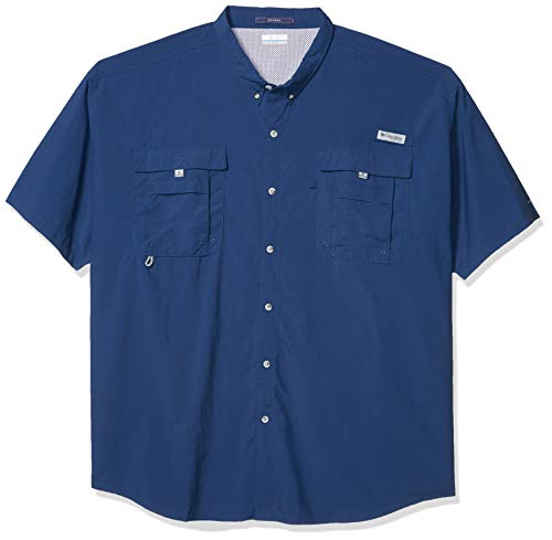 Columbia Men's PFG Bahama II Short Sleeve Shirt, Breathable with UV Protection , Carbon , Medium