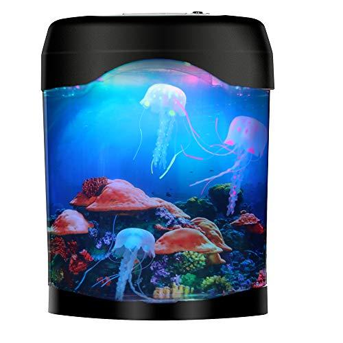 LED Jellyfish Lava Lamp Jellyfish Tank Aquarium Lamp for Home Decoration Gift for Kids Men Women Birthday Christmas Holiday