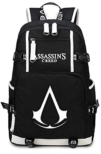 AUGYUESS Luminous School Bag Daypack Book Bag Laptop Bag Backpack for Assassin's Creed Cosplay