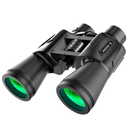 Binoculars for Adults Bird Watching, The E-Shine 10x50 High-Powered Surveillance Binocular HD Binoculars Compact for Easy Focus for Travelling, Hunting, Sports, Concert