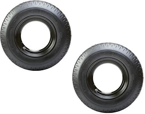 2-Pk Mounted Trailer Tire Rim Homaster 8-14.5 LRG 14.5 in. Demountable Rim Wheel
