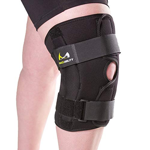 BraceAbility 5XL Plus Size Knee Brace | Bariatric Hinged Knee Wrap for Big & Wide Thighs to Support Meniscus Tears, Arthritis Joint Pain, Ligament Injuries & Sprains (5XL)