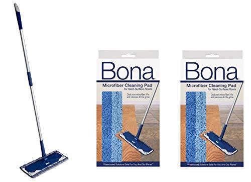 Bona Microfiber Floor Mop Microfiber Cleaning Pad 2 Pack