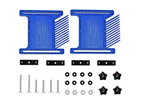PRS3020 Featherboard replace for Kreg ,compatible with t-slots ,miter slots on tablesaws, router tables, band saws,Blue, pack of 2
