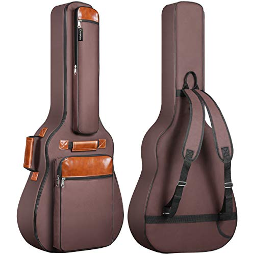 CAHAYA Guitar Bag 40 41 42 Inches 6 Pockets Guitar Case Waterproof Oxford Cloth 0.5 Inch Extra Thick Sponge Overly Padded for Acoustic Classical Guitar