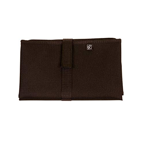 J.L. Childress Full Body Portable Baby Changing Pad, Fully Padded for Baby's Comfort, Waterproof, Opens to 19' X 30', Black