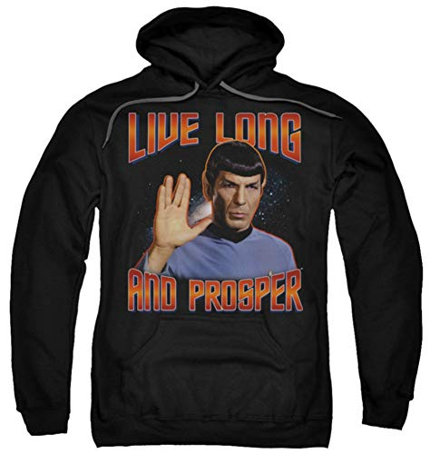 St Original Live Long And Prosper Officially Licensed Adult Pullover Hoodie