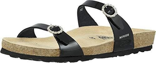 Mephisto Women's Flat Sandal, Black, 6