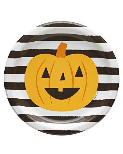 American Greetings Halloween Party Supplies, Pumpkin Paper Dessert Plates (36-Count)