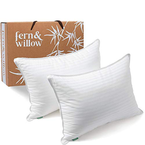 Pillows for Sleeping - Queen Size, 2 Pack - Premium Down Alternative, Hotel Bed Pillow Set - Luxury, Plush Cooling Gel Pillow, Hypoallergenic - Reduces Neck Pain, Perfect for Back & Side Sleepers