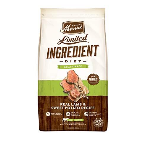 Merrick Limited Ingredient Diet Grain Free Dry Dog Food Real Lamb & Sweet Potato Recipe - 22 lb. Bag