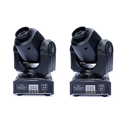 XPC 2PCS LED Moving Head Light Spot 4 Color Gobos Light 60W DMX with Show KT V Disco DJ Party for Stage Lighting(2Pack-60W) …
