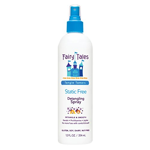 Fairy Tales Tangle Tamer Static Free Detangling Spray - Detangler Spray for Kids - Paraben Free, Sulfate Free, Gluten Free, Nut Free - 12 oz