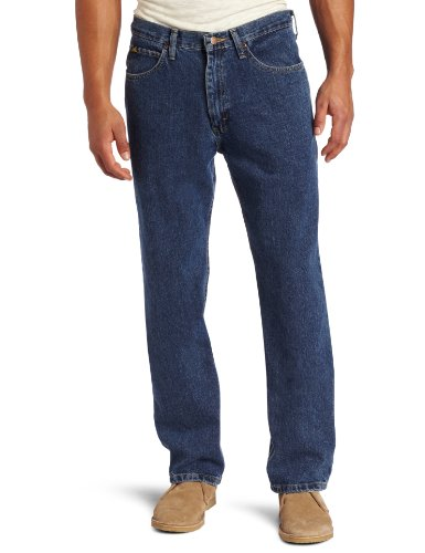 Lee Men's Relaxed Fit Straight Leg Jean, Medium Stone, 34W x 29L