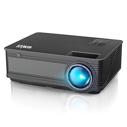 WiMiUS 2021 Upgrade P18 LED Movie Projector Native 1080P Support 4K 400' Compatible with WiFi Dongle Bluetooth Transmitter Amazon Fire TV Stick Laptop iPhone Android Xbox PS4 Via HDMI USB VGA AV