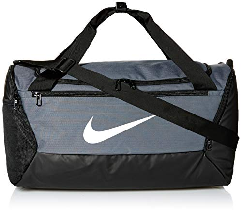 NIKE Brasilia Small Duffel - 9.0, Flint Grey/Black/White, Misc