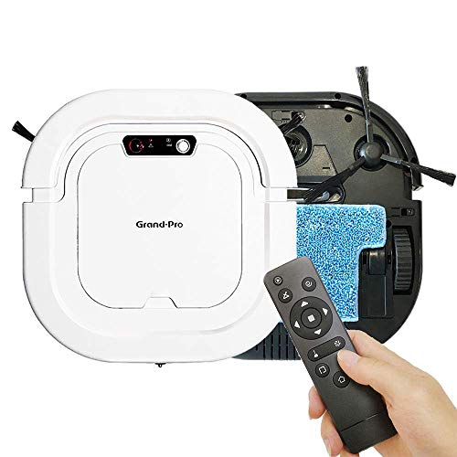 Grand-Pro A1 Strong Suction Robotic Vacuum Cleaner, Up to 120mins Runtime Automatic Self-Charging Robot Vacuum for Pet Hair Hard Floor to Medium-Pile, Easy Schedule Cleaning