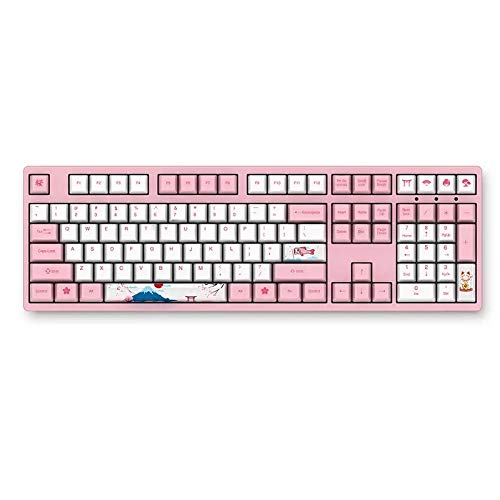 AKKO 3108 V2 108 Key PBT Keycap Akko Pink Switch Type-C Wired Mechanical Gaming Keyboard (Cherry Blue Switch)