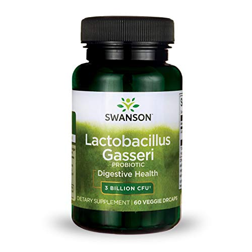Swanson Lactobacillus Gasseri 3 Billion CFU Digestive Health Fat Metabolism Satiety Probiotic Supplement 60 Veggie Capsules (Acid-Resistant Designed-Release)