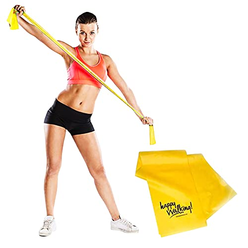 Walk At Home Happy Walking Resistance Band Active Fitness Home Gym Walking Stretching Strap for Upper Body Resistance Training Single Strap Workout Bands