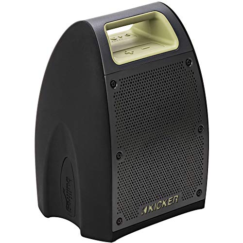 Kicker Bullfrog BF400 Bluetooth Portable Outdoor Speaker | 360° Sound Waterproof Dustproof Powerful 20 Watt AMP 3' Full Range Speakers (2) | 3'x4' Passive Bass Radiator | 100 FT Wireless Range
