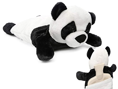 HomeTop Premium Adorable Rubber Hot or Cold Water Bottle with Cute Stuffed Panda Cover 2 Liters (Cute Panda)