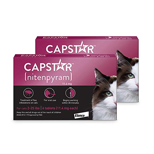 Capstar Flea Tablets for Cats 2-25 lbs, Count of 12, 12 CT