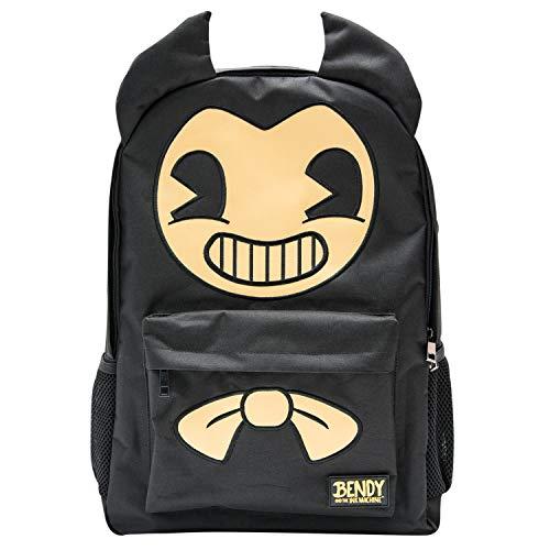 Bendy and the Ink Machine Backpack - Black Bendy Knapsack (Bendy Big Face)