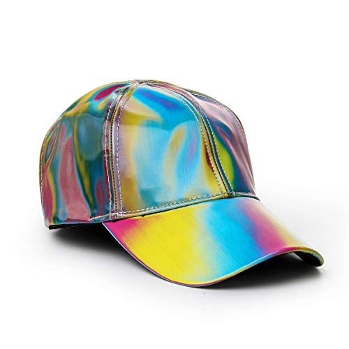 FangjunxianST Back Future Baseball Cap Marty Rainbow Cosplay Snapback Hat (Multicoloured 1)
