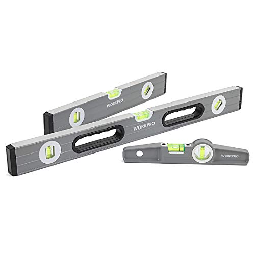 WORKPRO 3Pcs Spirit Level Set(9', 12', 24'), W002900A