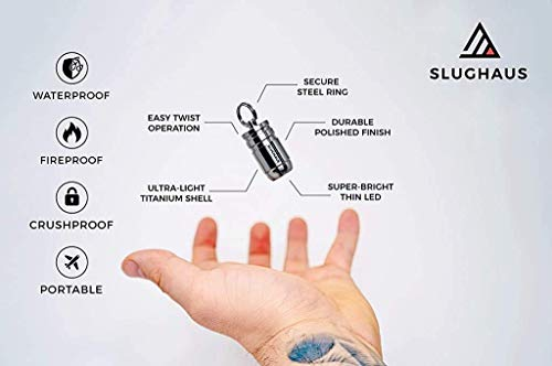 SLUGHAUS BULL3T - World's Most Powerful Micro Flashlight, Ever. (Black)