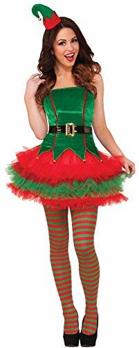 Forum Novelties Women's Sassy Elf Costume, Multi, X-Small/Small