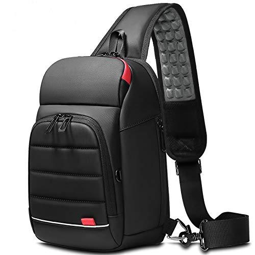 Phantom Smart Shoulder Bag, Sling Backpack Usb Anti-Theft Men'S Chest Bag Casual Shoulder Bag (Black)