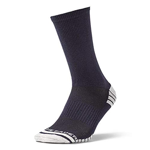 Eddie Bauer Men's Active Pro COOLMAX Crew Socks, Atlantic Regular ONE SIZE