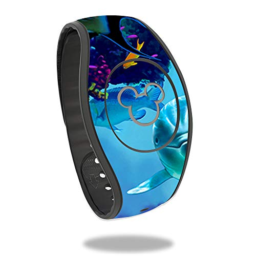 MightySkins Skin Compatible With Disney MagicBand 2 - Ocean Friends | Protective, Durable, and Unique Vinyl Decal wrap cover | Easy To Apply, Remove, and Change Styles | Made in the USA