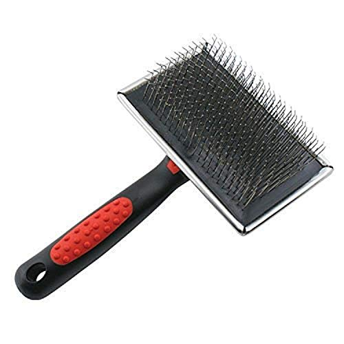 Paw Brothers Stainless Steel Extra Long Hard Pin Slicker Large Brush for Professional Grooming
