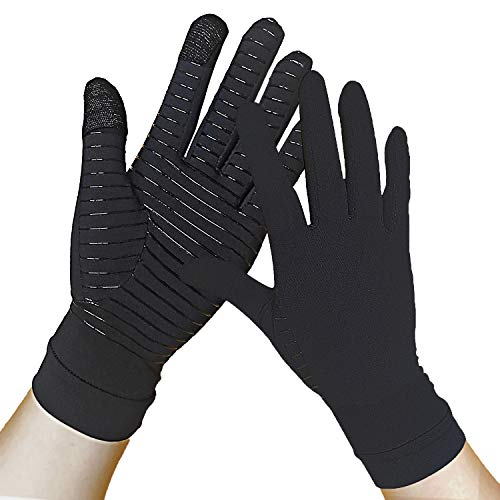 Full Finger Copper Arthritis Compression Gloves Relieve Hand Pain Carpal Tunnel