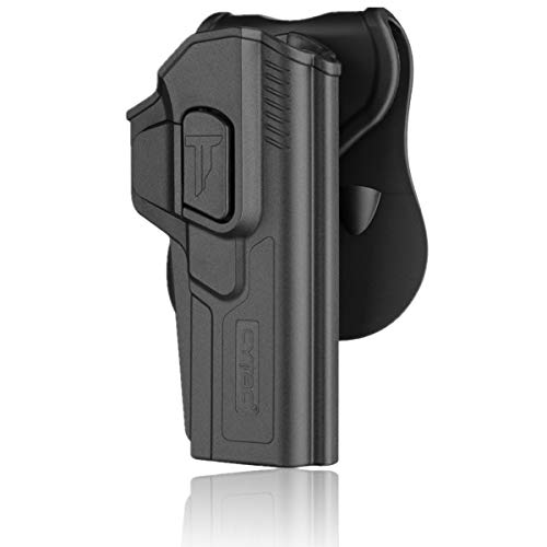 Glock 34 Holster, Compatible with Glock 17 19 19X 22 23 26 27 31 32 33 34 Gen 1 2 3 4, Tactical OWB Belt Carry Holster with 360° Adjustable Paddle -Right Hand Draw