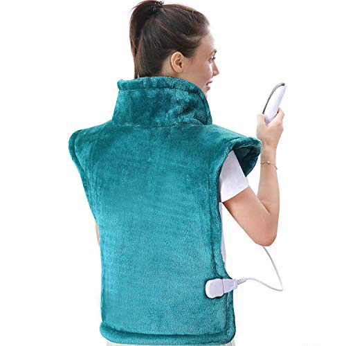 Large Heating Pad for Back and Shoulder, 24'x33' Heat Wrap with Fast-Heating and 5 Heat Settings, Auto Shut Off Available - Lagoon