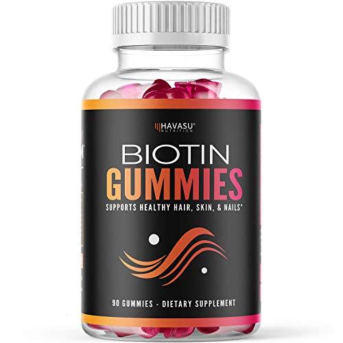 Havasu Nutrition High Potency Biotin Gummies - Natural Hair, Skin, Nail & Metabolism - 5000 mcg, Premium, Pectin-Based, 90 Gummies