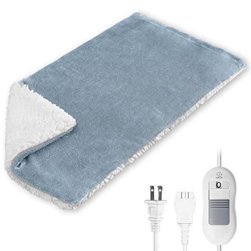 Heating Pad for Pain Relief, Electric Heat Pad for Back Pain and Muscle Cramps Relief with Protect Cover, XL Large Fast Heat Pads with Auto-Off, 3 Heat Settings - Moist Heat Therapy, Machine Washable