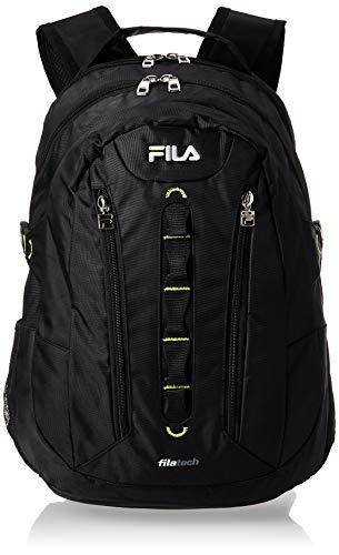 Fila Vertex Tablet and Laptop Backpack, Black, One Size